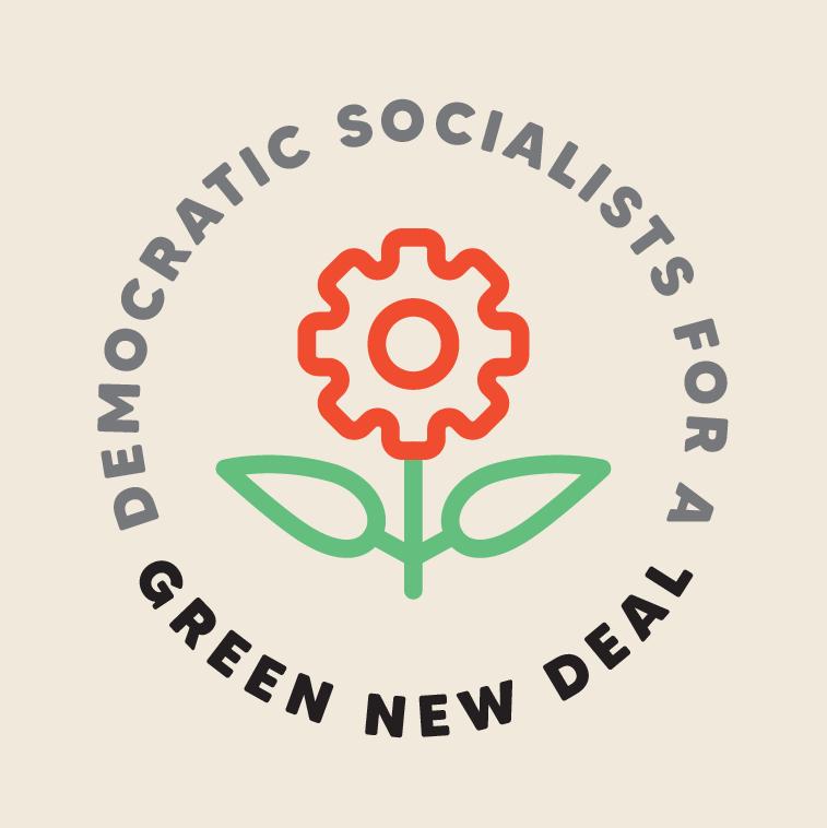 DSA Green New Deal Rose Gear Logo