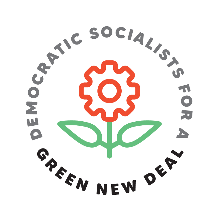 DSA Green New Deal Rose Gear Logo